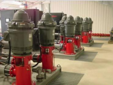 National Close Coupled Short Set Lineshaft Turbine Pumps