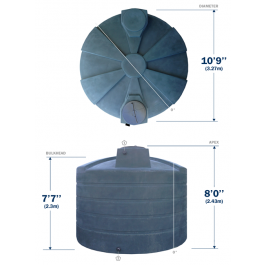Rainwater tank for harvesting